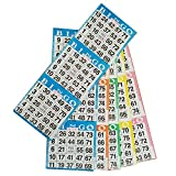 Bingo Paper Game Cards - 3 cards - 5 sheets - 100 books of 5 sheets