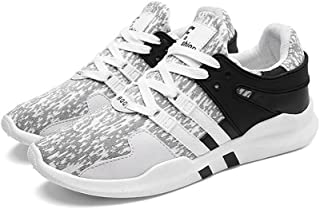 LaBiTi Men's Knit Breathable Casual Sneakers Lightweight Athletic Tennis Walking Running Shoes