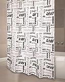 Anti-Schimmel Duschvorhang - Anti-Bakteriell, waschbar, mit 12 Duschvorhangringen, Kunststoff - Polyester, Love