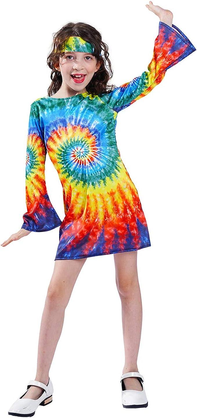 60s 70s Kids Costumes & Clothing Girls & Boys Girls Hippie Dress Children 60s 70s Flower Power Costumes  AT vintagedancer.com