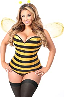 black and yellow corset