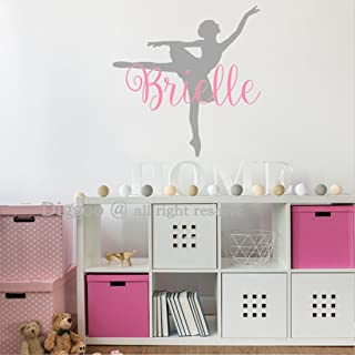 Ballerina Wall Decal - Personalized Girls Name Wall Sticker for Girls Bedroom Decor - Ballet Dancer Wall Decor - Dance Wall Decal (18