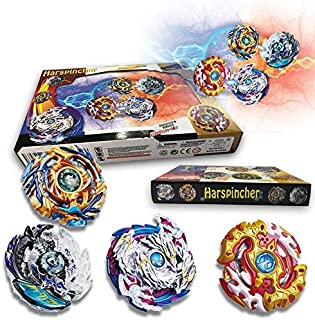 HARSPINCHER Bey Burst Evolution Switchstrike Battle Tower - Includes ,Four Battling Tops, & Two Launchers & Two Launcher Grip - Age 8+
