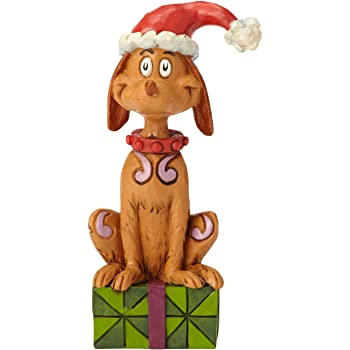 Amazon Com Enesco Dr Seuss The Grinch By Jim Shore Max With Santa Hat Figurine 3 94 Multicolor Home Kitchen