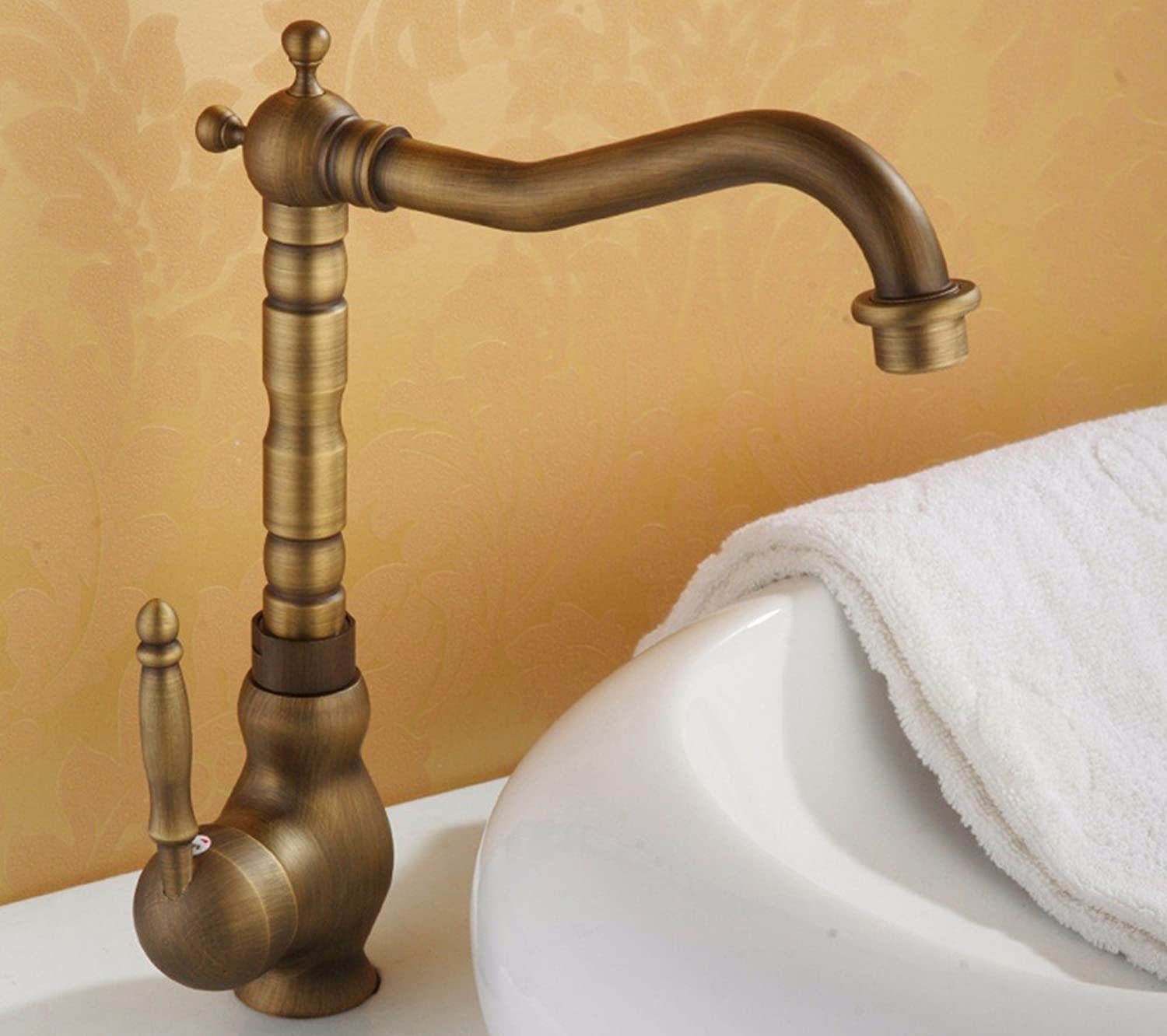 Hlluya Professional Sink Mixer Tap Kitchen Faucet Copper, cold and hot, Single Hole, plus high, basins, Sinks Faucets, 4
