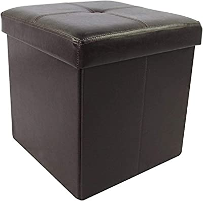 """Wee's Beyond Brown 15"""" Collapsible Storage Ottoman"""