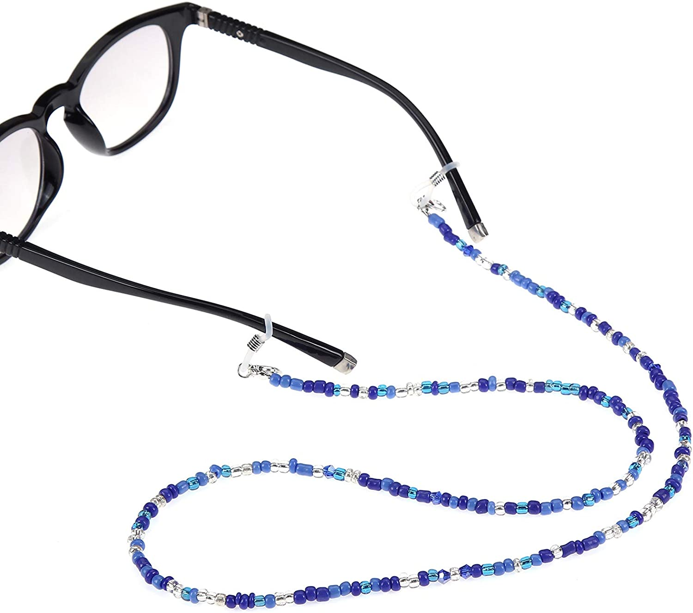 LUFF Colorful Beaded Glasses Chain Eyeglasses String Holder Lanyards For Women