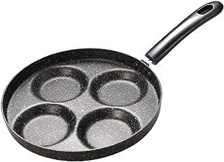 Firlar - Sartén para Hacer Huevos de 4 Agujeros, Antiadherente, sartén para Desayuno o Cocina