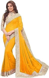 e47c2e6bc83c61 Navya Fashion Women's Fancy Georgette Sarees (nav516_Multi-Coloured_Free  Size)