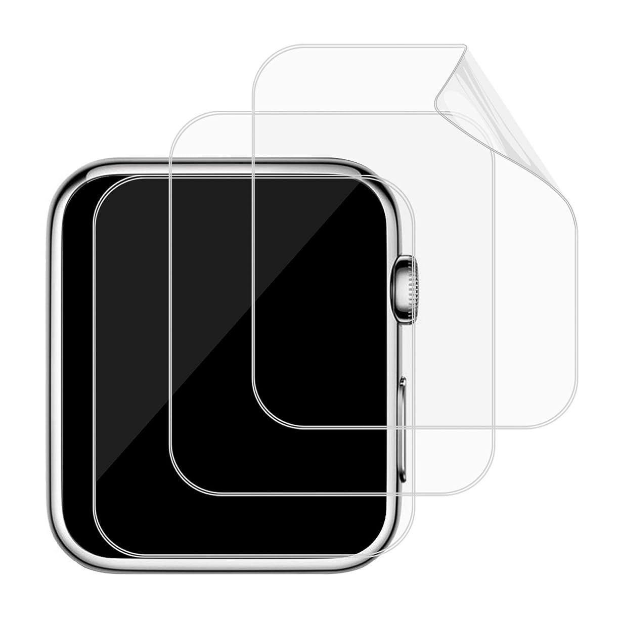 抑制誤解させるモトリーJEDirect Apple Watch 用液晶保護フイルム 高透過率 HD画面 42mm Series 1 2 3対応 3枚入り