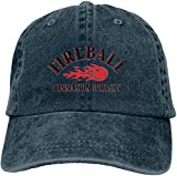 Gsdgjgg Fireball Cinnamon Whisky Retro Casquette Baseball-Caps Navy Cotton Adjustable Unisex Hat Gift,One Size