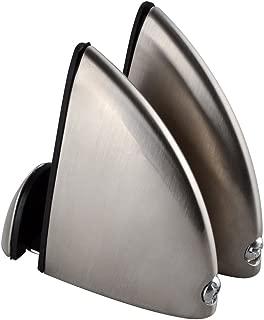 KES HSB300C-2-P2 Solid Metal Adjustable Wood/Glass Shelf Bracket Wall Mount 2 Pcs or One Pair LARGE, Brushed Nickel