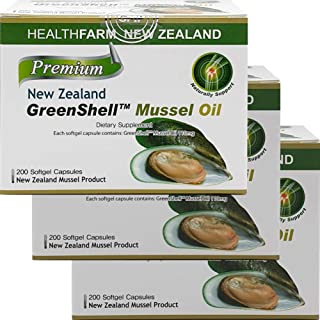Joint-Health Supplement GreenShell™ Mussel-Oil 200capsule Green-Lipped Mussel (3 Pack)