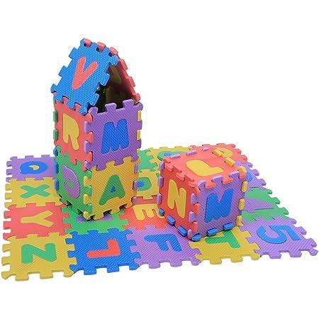 Tapis de Jeu pour Enfants, Tapis de Jeu en Mousse EVA Souple de 36 pièces, Tapis de Puzzle en Chiffres et Lettres, bébés Enfants Enfants Jouant à des Jouets