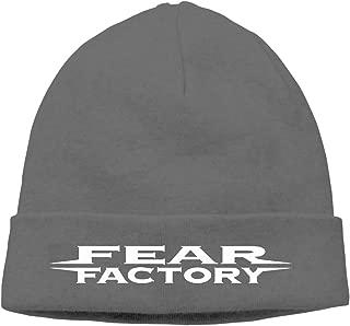 Deep Heather Fear Factory Metal Band Beanie Cap Adult Unisex Knit Winter Warmth Beanie Hat