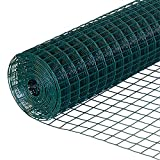 Yikai 40 Inches x 82 Feet 19-Gauge Green PVC Welded Wire Garden Fence with 0.65 Inches Openings
