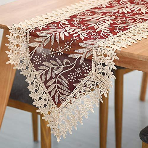 Kitabetty Camino de mesa de encaje antiguo, bufanda de tocad