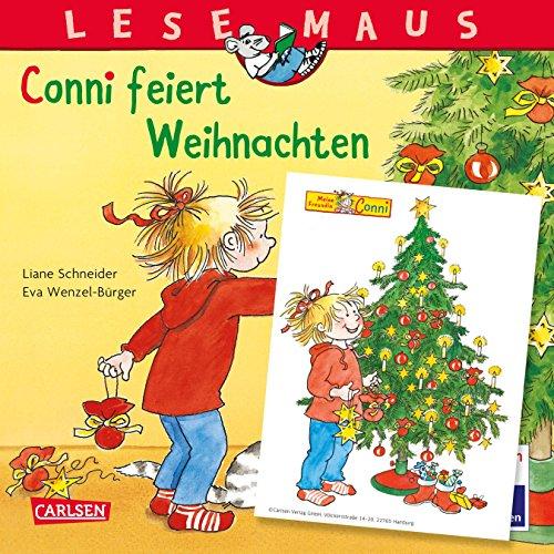 LESEMAUS 58: Conni feiert Weihnachten: Mit weihnachtlichem Conni-Fensterbild (58)