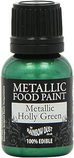 Rainbow Dust Metallic Paint Holly Green