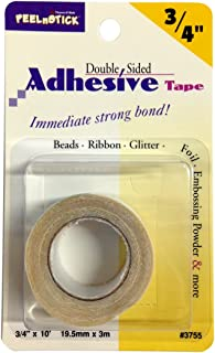 Therm-o-Web Double Sided Immediate Strong Bond for Beads Ribbon Glitter Foil Embossing Powder and More, White
