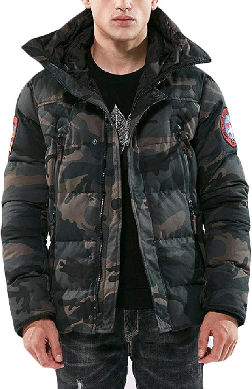 4c2fa3331d Doanpa Men Camouflage Camouflage Camouflage Army Outdoor Sports Plus Size  Outdoor Coat 1b9bc9