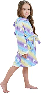 Unisex Children's Flannel Unicorn Bathrobes Hoodie Unicorns Gifts for Girls