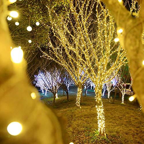 Solar Light 12m100 snoerlicht, ijspegellichten vallen buitenverlichting, LED feestelijke sfeer van de lamp verlicht, de lamp 8 functies water