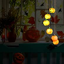 CLISPEED Wind Chimes Lights Halloween Decoration Outdoor Color Changing Wind Chime Halloween Hights Halloween Wind Vhimes ...