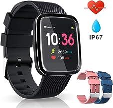 VASCOO SmartWatch, Reloj Inteligente con Impermeable 67, Pulsera Actividad Inteligente con Monitor Rítmo Cardíaco Calorías, 8 Modos Deportes GPS, Reloj Inteligente Deportivo Mujer Hombre