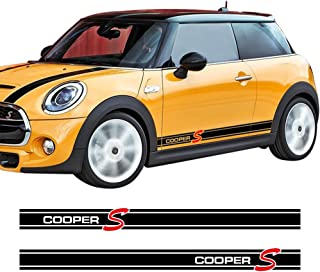 Charminghorse 2Pieces Side Skirt Coopers Graphics Racing Stripes Decal Stickers for Mini..