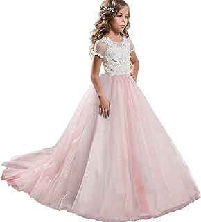 3fb338ca36cba NNJXD Robe brodée de Bal en Tulle de Princesse pour Partie Formelle Longue  Queue Robes