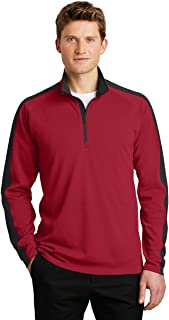Sport-Tek Sport-Wick Textured Colorblock 1/4-Zip Pullover-ST861-L