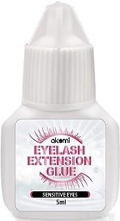 Akemi Home Use Eyelash Extension Glue for both Self and Professional Applications|Tasteless Non-Stimulating | 3-5 Sec Drying Time | Retention 20-25 Days | Sensitive Black Eyelash Glue 5ml