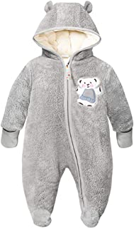 JiAmy Baby Outfits Winter Hooded Romper Baby Snowsuit Pramsuit Infant Onesie Jumpsuit