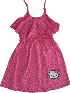 c482e97d60d9 Hello Kitty Little Girls Fuchsia Spotted Bow Glittery Applique Dress 4-6X