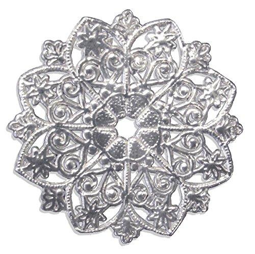 Walter Kunze GmbH Ornament Kerzenmanschette, Durchmesser 5 cm, weiß, 8 Stück, aus geprägtem Papier