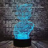 Lámpara de bola de dragón 3D con diseño de catoon LED Super Salyan Son Goku Kakarot Vegeta figura...