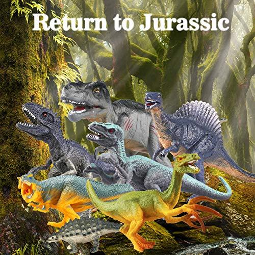 Estela Juego de Dinosaurios, 17 PCS Dinosaurios de Juguete, Dinosaurio Jurásico Mundo Dinosaurio de Construcción de Juguete