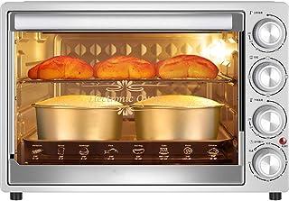 Horno de convección de 40L, horno eléctrico multifuncional de gran capacidad para hornear en el hogar, temporizador de 60 minutos, fermentación a baja temperatura, iluminación incorporada a prueba de