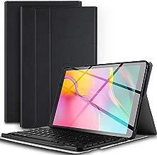 Teclado Estuche para Samsung Galaxy Tab A T510/T515,Protectora Cover Funda con Magnético Desmontable Wireless Teclado para Samsung Galaxy Tab A 10.1 T510/T515 2019,Negro