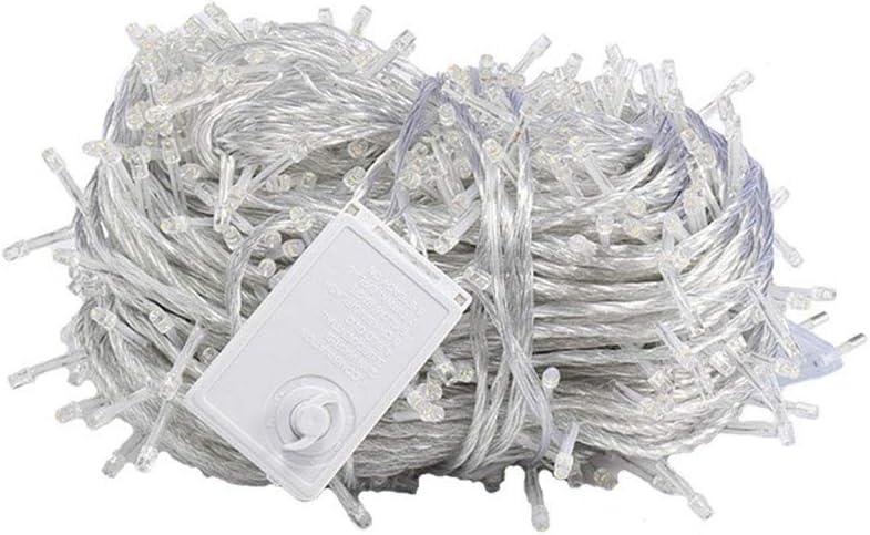 KELITE 2000 LEDs 100m Lichterketten, 8 Beleuchtung Modi Kupferdraht-Fee-Schnur-Lichter for Weihnachtsdekorationen Weding Schlafzimmer Partei-Garten-Terrasse (Color : White-100m*1000LEDs) White-100m*1000leds