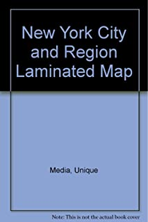 New York City and Region Laminated Map