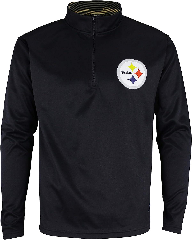 Zubaz NFL Men's Pittsburgh Steelers Camo 永遠の定番モデル 評価 Fl Collar 1 Zip 4 Lines