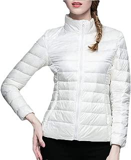 Women's Packable Short Down Jacket Lightweight Stand Collar Coat Outwear Puffer Jackets