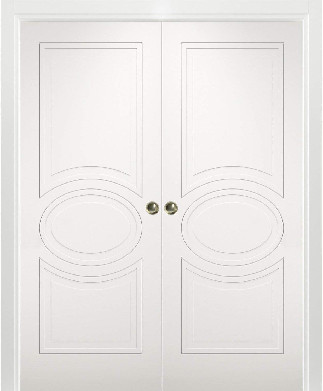 cheap Sliding French Double Pocket Doors 56 Matt inches Philadelphia Mall 84 x Mela 7001