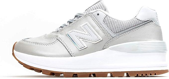 New Balance 574 Sneaker Grigia da donna WL574CAS : Amazon.it: Moda