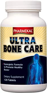 Pharmekal Ultra Bone Care, 120 Tablets – Bone Supplement, Synergistic Formula with Vitamin D3, Vitamin K, Calcium and Magnesium to Promote Healthy Bones