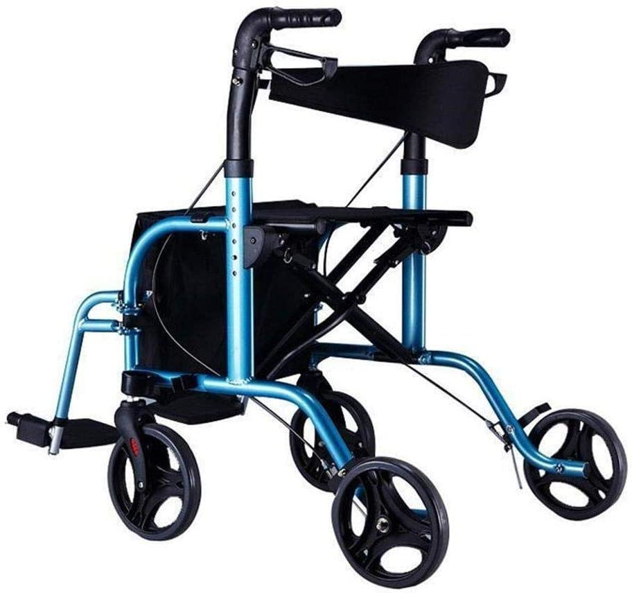 Zfusshop New Orleans Mall Elderly Trolley Walker Aluminum Alloy Seat Wheel shop W with