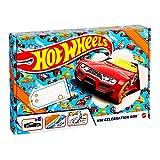 Hot Wheels Pack celebración 6 vehículos sorpresa con pistas de coches de juguete y set para pintar con pegatinas (Mattel GWN96)