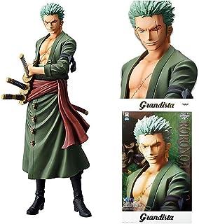 Bandai- Grandista One Piece Estatua Roronoa Zoro, (Banpresto BANP82724)